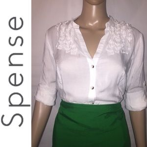 Spense White Button Down Shirt
